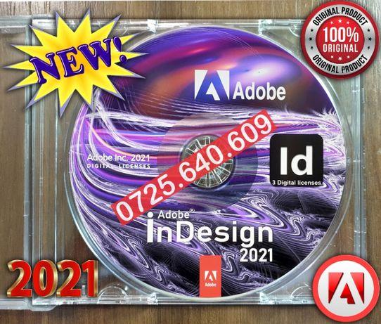 Adobe InDesign 2021-Sigilat 3 Licente Perm.- VEZI ANUNTURILE MELE