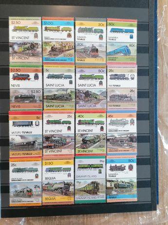 Colecție filatelie MNH. Istoria locomotivei '