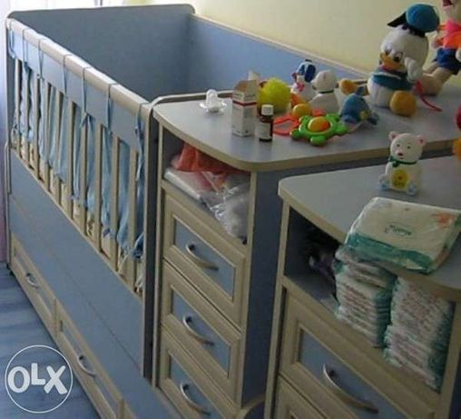 Детски легла кошари 2бр. 3 в 1 -трансформиращи се.