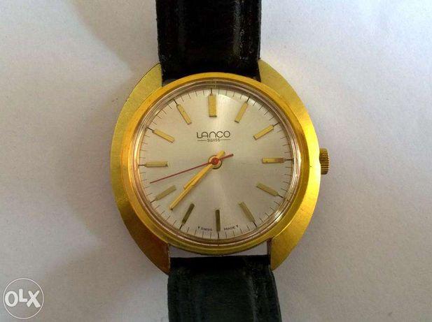 Ceas Lanco Autolube Astrolon Aur 10u cadran argintiu anii 1970 st.fb