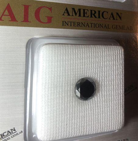 Diamant negru natural 3.67 carate / certificat AIG bijutierie nel