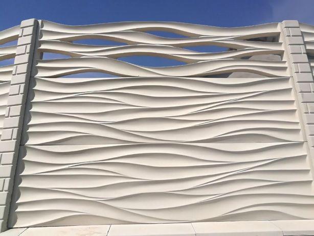 Gard decorativ prefabricat din beton armat Giurgiu