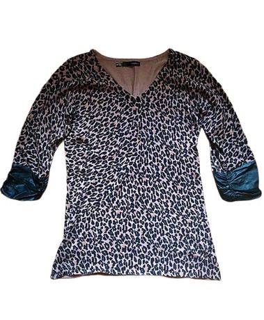 Bluza Pulover USA Maurices animal print decoltata leopard stil Zara
