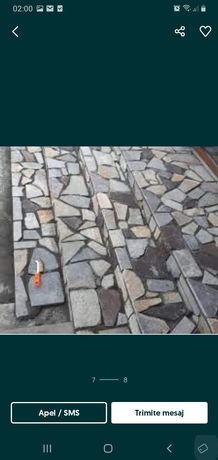 Vand piatra si montez amenajeze sprijinul verzi cu gazon