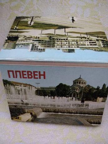 Стара дипляна/брошура с изгледи от Плевен
