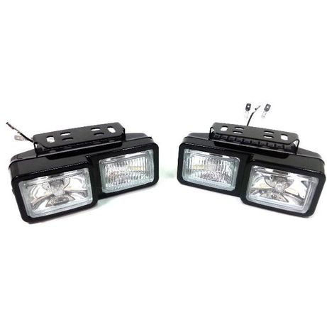 К-кт халогени светлини 12v за автомобил, ролбар, джип, атв