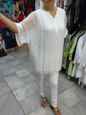 Копринена риза в 5 цвята- 2 вида бежево, бяло, черно, пепелно розов