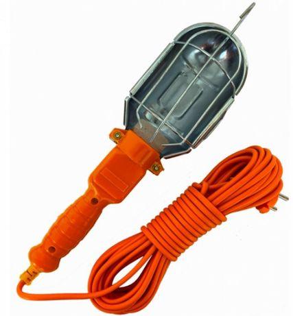 Работна Лампа Подвижна с 10 Метра Кабел и Кука за Закачане 220V