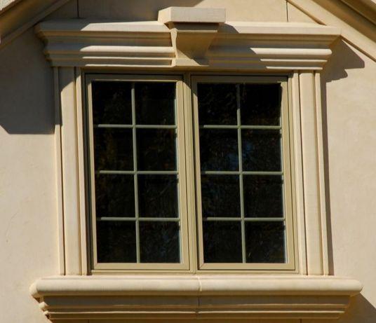 Декор, оконное обрамление, фасад, травертин, термопанели