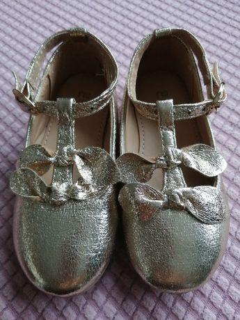 Златисти обувки, 21.5 номер, стелка 14 см, mothercare