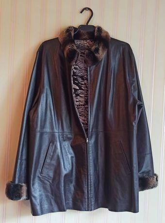 Куртка кожаная женская осень-весна