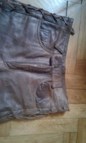 Pantaloni dama din piele pentru motocicleta