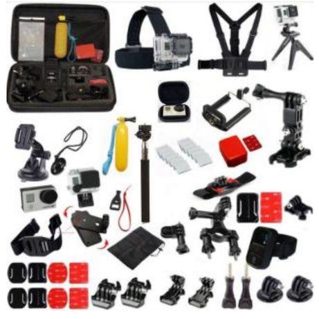 GK14 нов комплект аксесоари за екшън камери 25 части GO PRO SJCAM,EKEN