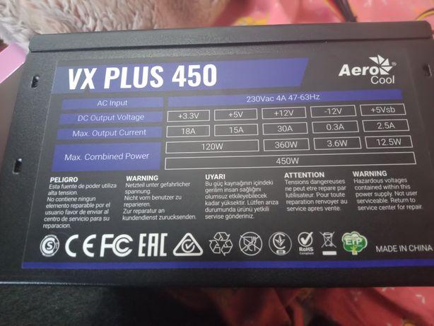Блок питания Aerocool vx450+
