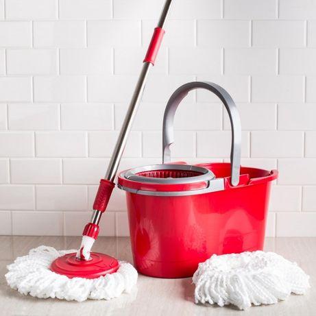 SPIN MOP - Mагически моп с центруфуга - кофа за пране и изтискване!
