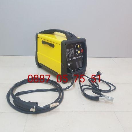 Телоподаващ инверторен апарат ЦО 200 ампера шланг 4 метра.Електрожен