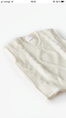 Zara vesta din tricot cu torsade, NOUA, cu eticheta, 8-9 ani