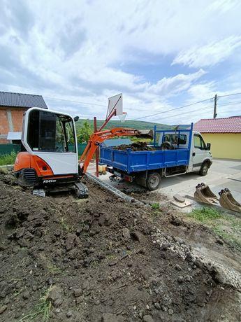 Inchiriez mini excavator miniexcavator buldoexcavator și trans Bascula