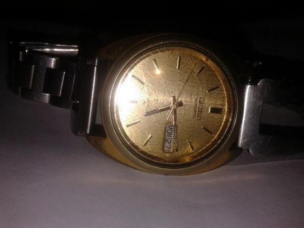 Ceas de mana SEYKO, automatic, suflat cu aur
