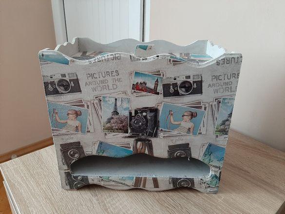 Кутия за памперси декупаж