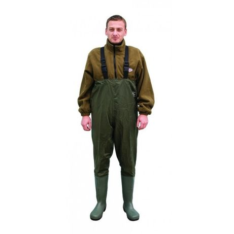 Cizme piept/vader nylon/PVC Baracuda, culoare verde