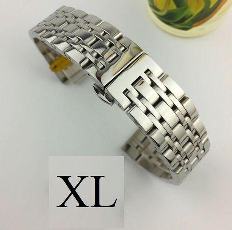 Bratara de ceas neagra argintie aurie din otel 20mm 22mm