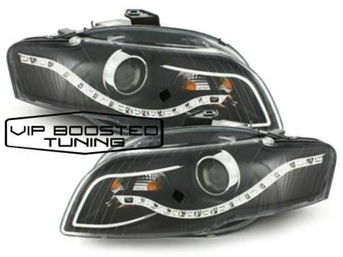 Faruri BIXENON LED DRL Xenon Look  AUDI A4 B7 (2004-2008) Negre