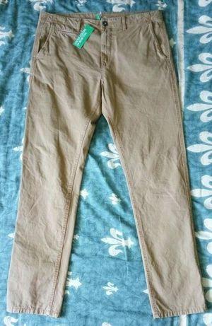 Pantaloni barbati, maro, noi, United Colors of Benetton, L / 50, 96cm