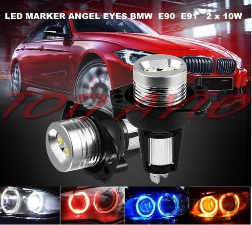 Лед Ангелски Очи БМВ Е90 Е91 Led Angel Eyes BMW E90 E91 2 х 10w