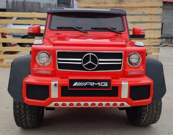 Masinuta electrica pentru copii Mercedes G63 6x6 cu Scaun Adult #RED