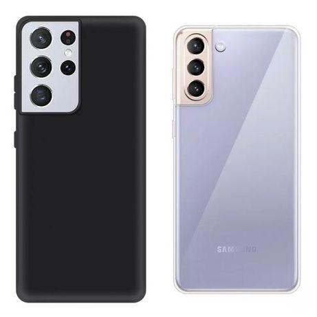 Samsung S21 S21 PLUS S21 ULTRA - Husa Ultra Slim Silicon Neagra /Clara