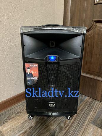 Акустическая портативная AUX BLUETOOTH USB KARAOKE колонка 100W