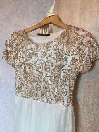 Белое Платье в пол. 10000 размер s-m