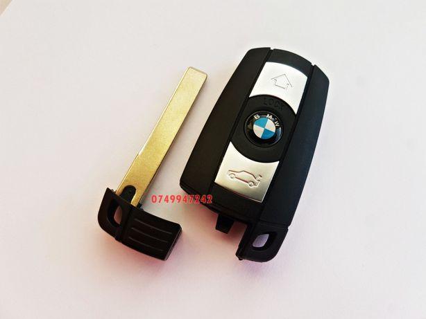 Carcasa cheie 3 butoane cu logo BMW E60 E90 X3 X5 seria 3 5