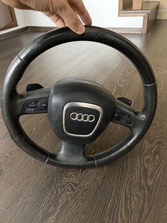 Volan Audi A3 din piele cu comenzi si padele complet cu airbag