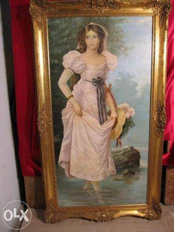 Vand tablou vechi Domnisoara marime naturala