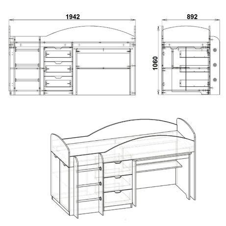Двуетажно легло Универсал