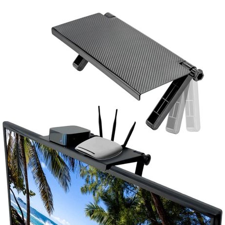 Удобна стойка за над телевизор тип рафт