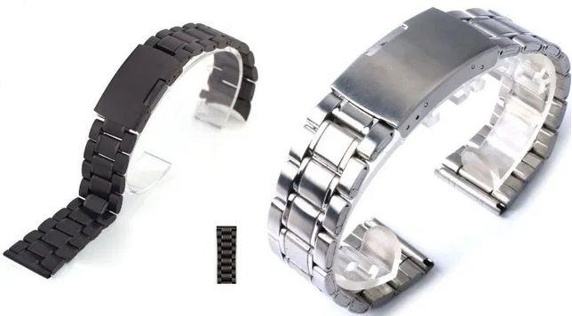 Curea Bratara Ceas Metal Neagra/Argintie 20/22/24mm LATIME smartwatch
