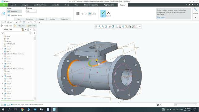 Proiectare piese 3D