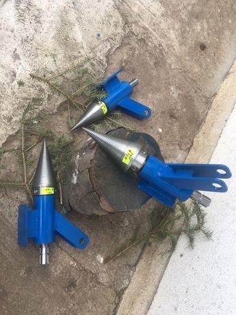 Utilaj crapat lemne cu con surub filetat pentru cardan tractor detasab