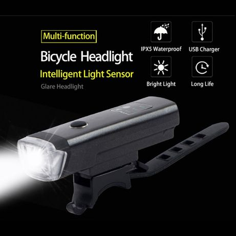 Lanterna usb bicicleta trotineta far acumulator