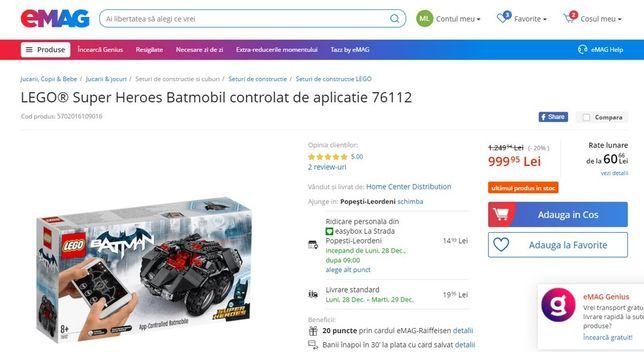 Lego Superhero Batmobile radioghidat