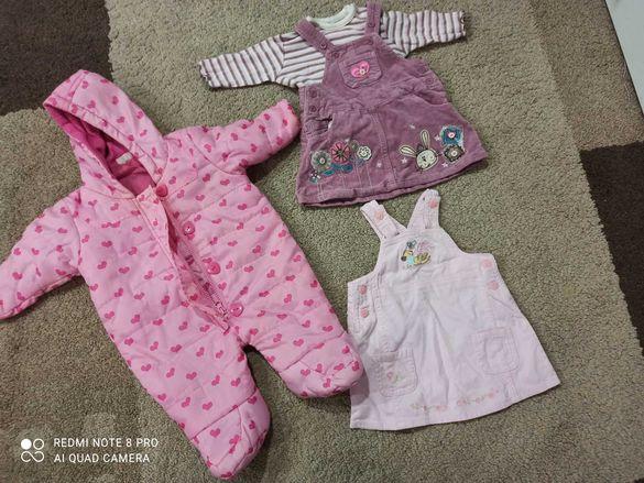 Лот от дрехи за бебе 0-3 месеца момиче Disney Cherokee гащеризон