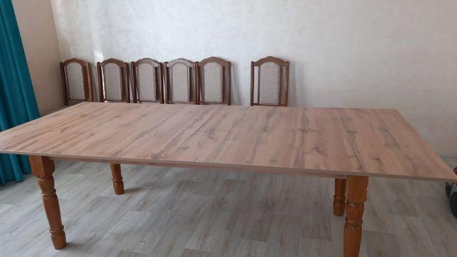Стол раздвижной из дерева 2.5 на 1.10 метр