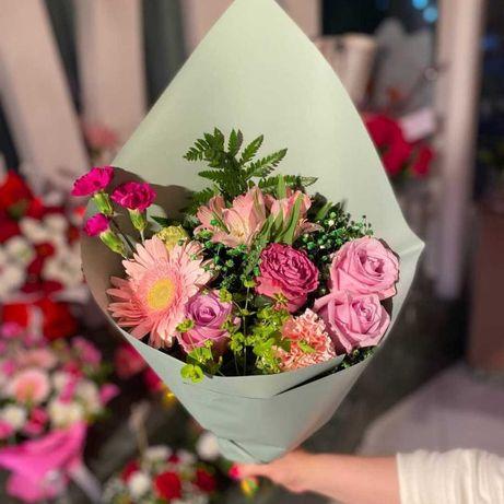 !АКЦИЯ Сборный Букет по 6990₸ • Розы • Хризантемы • Доставка цветов 49
