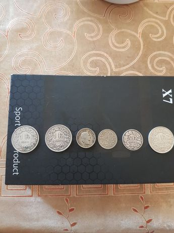 Monede vechi de Argint Franci Elvetieni