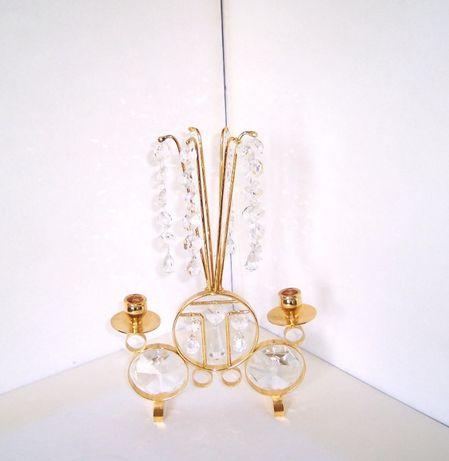 Sfesnic alama, placat cu aur 24K, cristale Swarovski - Argos Mantorp