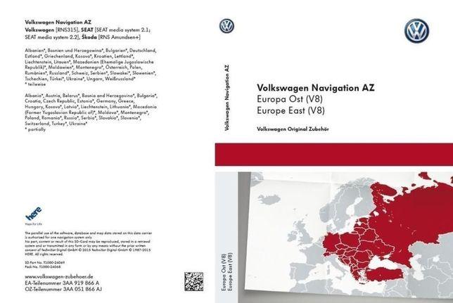 SD CARD Harti Navigatie 2021 GPS VW Seat Skoda Amundsen+ RNS315 RO