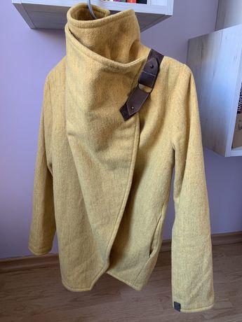 Вълнено жълто палто - Vintage Summer, XS